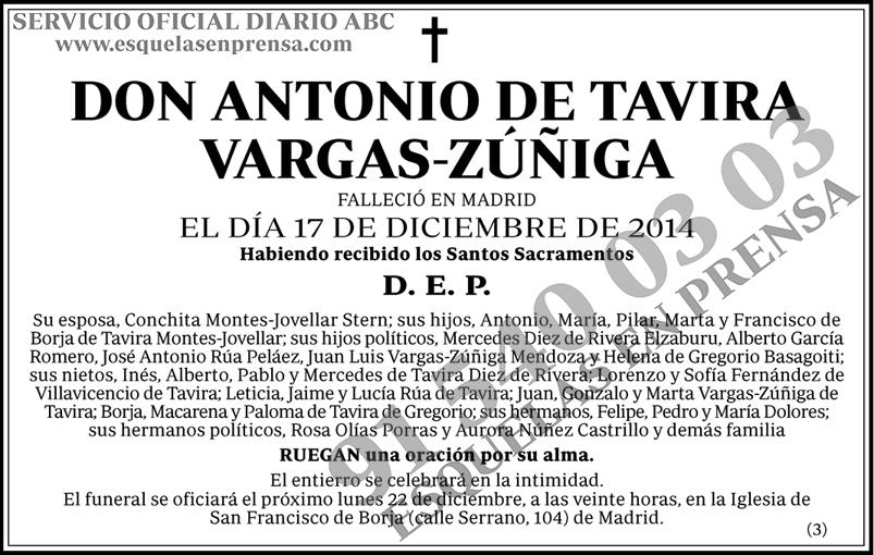Antonio de Tavira Vargas-Zúñiga